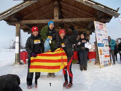 Campions en raquetes de neu